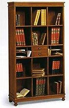 Unbekannt Bücherregal Holz Antik cm 100x36, h 180
