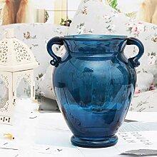 Unbekannt Bunt Transparent Glas-Vase Für Das