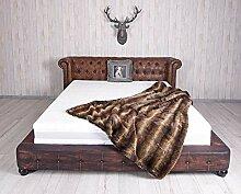 Unbekannt Chesterfield Bett Kunstleder Ehebett