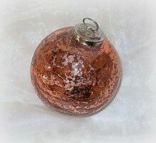 Unbekannt Christbaumkugel aus Glas Kupfer 10 cm