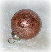 Unbekannt Christbaumkugel aus Glas Kupfer 8 cm