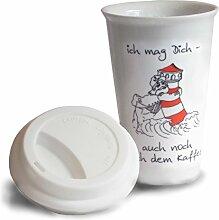 Unbekannt Coffee-to-Go Kaffeebecher mit Deckel |