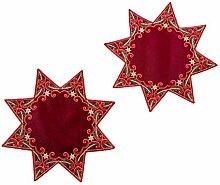 Unbekannt Deckchen Weihnachten 2 Stück Stern mit