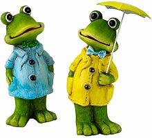 Unbekannt Deko Figuren 2 stück Set, Frosch