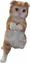 Unbekannt Deko Katze Polyresin Figur zum