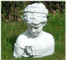 Unbekannt Dekofigur Gartenfigur Figur Büste Iris