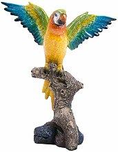 Unbekannt Dekofigur Papagei Ara Bunt Gartenfigur