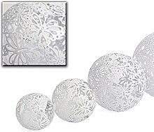 Unbekannt Dekokugel Schmetterling Metall/Weiß 25cm