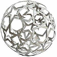 Unbekannt Dekokugel Stern 19 cm Metall Antique