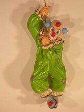 Unbekannt Dekorationsfigur Clown hängend H 50 cm