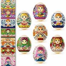 Unbekannt Eieraufkleber Ostern-Dekorbanderolen