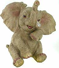 Unbekannt Elefant traurig Figur 26 cm Afrika