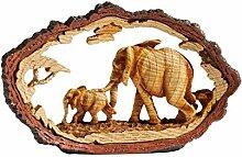 Unbekannt Elefanten-Serengeti, Bild geschnitzt