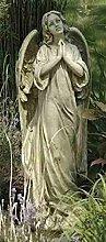 Unbekannt Engel betend Garten Statue