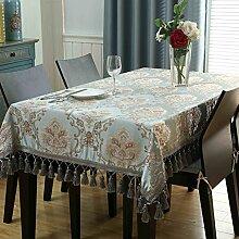 Unbekannt Europäische Couchtisch Tischdecke Stoff/für rechteckige Wohnzimmer zu Hause Tischdecke/quadratische Tabelle Quadrat Tischdecke/Runde Tisch große Tischdecke (Größe: 140 * 160cm) von SHOME