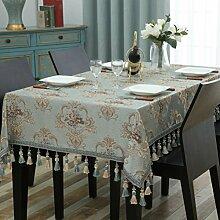 Unbekannt Europäische Couchtisch Tischdecke Stoff/für rechteckige Wohnzimmer zu Hause Tischdecke/quadratische Tabelle Platz Tischdecke/Runde Tisch große Tischdecke (Größe: 110 * 170cm) von SHOME
