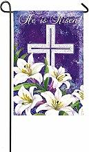 Unbekannt Evergreen Ostern Kreuz und Lilien