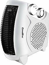 Unbekannt FEI Elektroheizkörper Mini Heizung Home Badezimmer Elektroheizung Energiesparende Desktop Neigung Sicherheitsabschaltung (Farbe : Weiß)