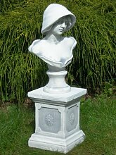 Unbekannt Figur Büste Frau mit Hut auf