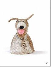 Unbekannt Filz Eierwärmer Hund 11 cm Handarbeit