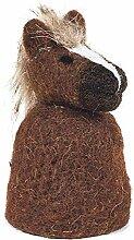 Unbekannt Filz Eierwärmer Pferd 11 cm Handarbeit