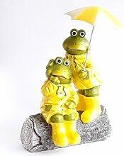 Unbekannt formano Froschpaar Schietwetter, grün-gelb, ca. 30 x 20 cm, formano Gartendeko