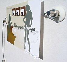 Unbekannt Fotoleine, Fotoseil, Foto-Stahl-Seil in 2 Meter mit 20 Magneten