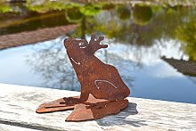 Unbekannt Frosch auf Seerosenblatt Metall Edelrost