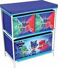 Unbekannt Fun House 712933Regal 3Fächer für Kinder, PP/Karton/Gestell/Kunststoff, blau, 60,5x 30,5x 66cm