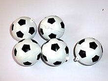 Unbekannt Fußbälle 5er Set - Fussball Geschenkidee für Fussballfans - Kunststoff, Fanartikel, Bastelbedarf, Geburtstagsgeschenk, Weihnachtsgeschenk Fussbälle, Fussball Werbegeschenk