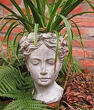 Unbekannt Garten BÜSTE Statue Frau Figur
