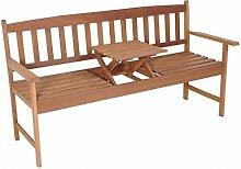 Unbekannt Gartenbank mit Tisch Hartholz 3-Sitzer