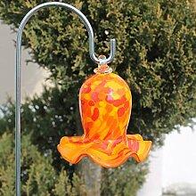 Unbekannt Gartendeko Glas-Miniglocke Rot, ca. 10