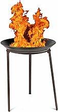 Unbekannt Gartendekoschale 48cm Feuer-Korb