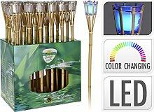 Unbekannt Gartenfackel - Bambus - LED-Farbwechsel