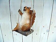 Unbekannt Gartenfigur Eichhörnchen auf Schaukel