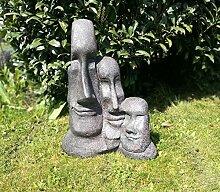 Unbekannt Gartenskulptur 3 Köpfe 55 cm