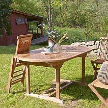 Unbekannt Gartentisch Outdoortisch Teaktisch oval