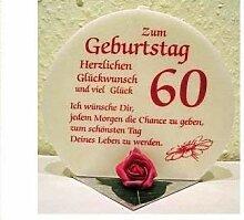 Unbekannt Geburtstagskerze Geschenk Kerze zum 60.