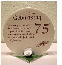 Unbekannt Geburtstagskerze Geschenk Kerze zum 75.