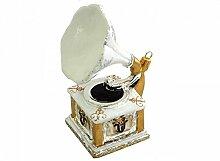 Unbekannt Grammophon Glas Christbaumschmuck Kugel