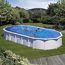 Unbekannt Gre m286662–Pool oval aus weißem