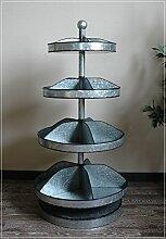 Unbekannt Große 4-stöckige Etagere aus Metall im