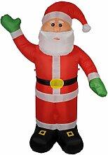 Unbekannt Große Aufblasbarer Weihnachtsmann Stoff