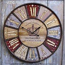 Unbekannt Große Wanduhr Uhr Chateau Canet Shabby