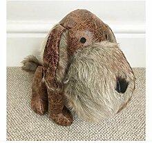 Unbekannt Großer Kunstfell und Leder Scottie Hund
