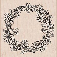 Unbekannt Hero Arts Woodblock Stempel, Blumen Kranz