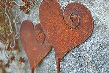 Unbekannt Herz 2 Stück Gartenstecker Metall