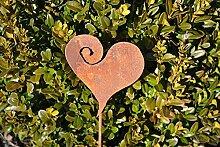 Unbekannt Herz auf Stab Gartenstecker Metall Rost