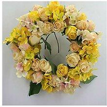 Unbekannt Hochzeits-Blumen-Kranz-gelbes und